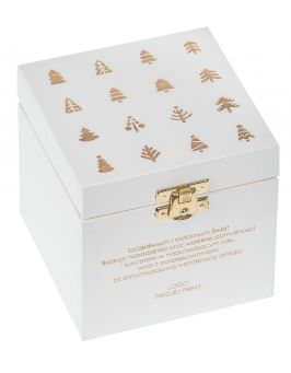 Pudełko 11x11x10,5cm białe z grawerem