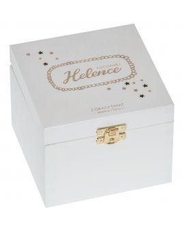 Pudełko 13,5x13,5x10,5cm białe z grawerem