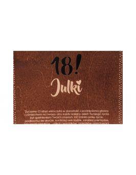 Pudełko urodzinowe 16x16 z grawerem