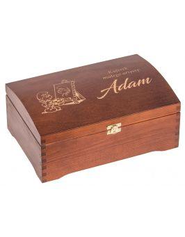 Kuferek małego artysty - kufer sosnowy 30x20cm