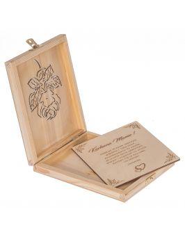 """Pudełko + """"kartka"""" z życzeniami dla Mamy"""