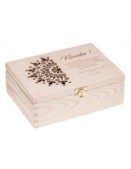 Pudełko drewniane 22x16 na urodziny, grawer