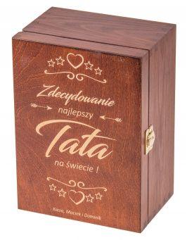 Pudełko 22x16x10.5 z grawerem dla Taty