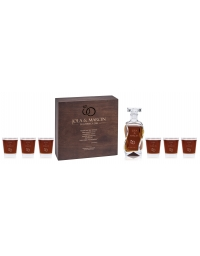 Karafka, pudełko i 6 szklanek z grawerem