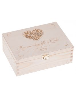Walentynkowe pudełko 22x16cm z grawerem
