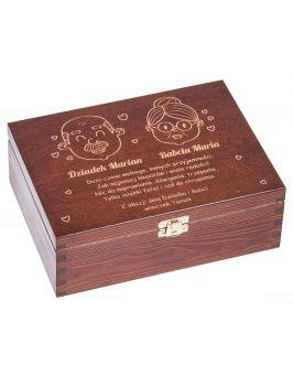 Drewniana herbaciarka dla Babci i Dziadka