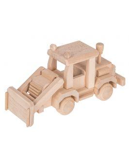 Buldożer - drewniana zabawka
