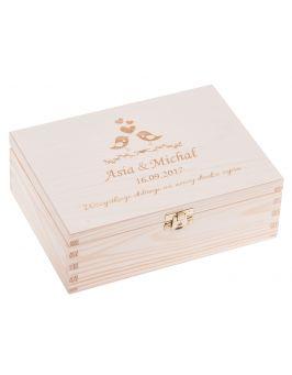 Drewniane pudełko 22x16cm z grawerem