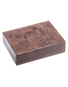 Pudełko na obrączki - ciemny brąz