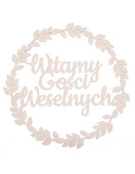 Wianek - Witamy Gości Weselnych - 55cm