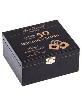 Czarne pudełko 16x18cm z grawerem