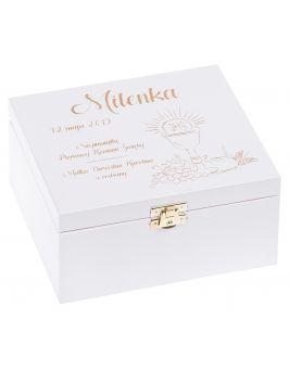 Białe pudełko 16x18cm z grawerem