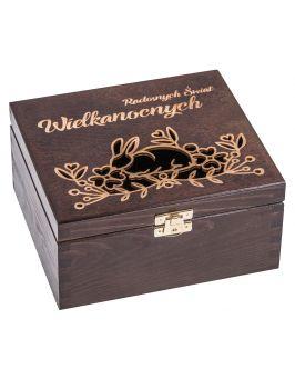 Pudełko 16x18cm brąz- WIELKANOC