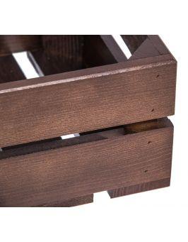 Brązowa skrzyneczka 31x22x12cm