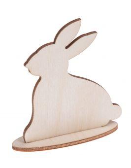 Drewniany królik na podstawce