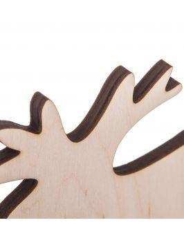 Drewniany Renifer na podstawce - ŚREDNI