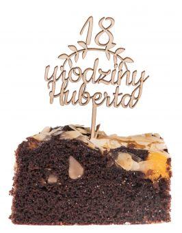 Topper na tort urodziny napis 18 MINI