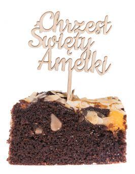 Topper na tort napis CHRZEST ŚWIĘTY mini