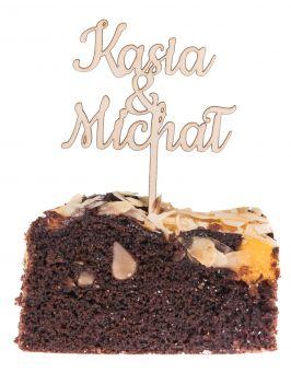 Topper na tort wesele ślub napis rocznica MINI