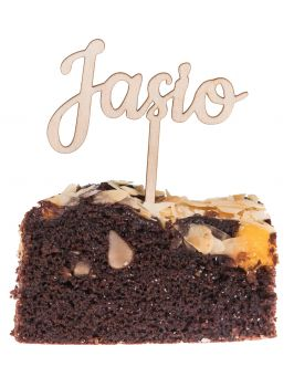 TOPPER NA TORT chrzest urodziny napis MINI