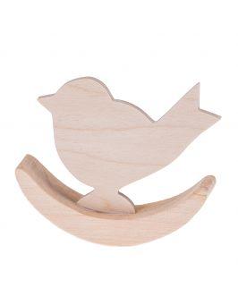 Drewniany ptaszek bujany