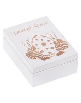 Pudełko drewniane ozdobne święta WIELKANOC prezent