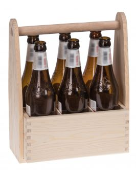 Drewniane nosidełko na 6 butelek